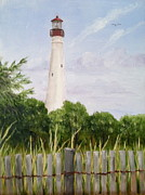 Jersey Shore Painting Originals - Cape May Lighthouse by Margie Perry