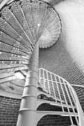 Spiral Staircase Photos - Cape May Lighthouse Stairs by Dustin K Ryan