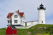Shed Metal Prints - Cape Neddick Light Metal Print by Luke Moore