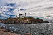 Cape Neddick Light Station Prints - Cape Neddick Light Station Print by Guy Whiteley