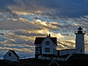 Cape Neddick Light Station Prints - Cape Neddick Light Station Print by Scott Moore