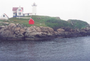 Nubble Lighthouse Prints - Cape Neddick Lighthouse Print by Thomas R Fletcher