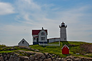 Nubble Lighthouse Originals - Cape Neddick Nubble Light by Brenda Thimlar
