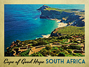 South Africa Digital Art Prints - Cape of Good Hope South Africa Print by Vintage Poster Designs