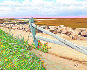 Cape Cod Paintings - Cape Pathway by Douglas Auld