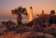 Franklin County Florida Prints - Cape Saint George Lighthouse 3 - FS000776 Print by Daniel Dempster