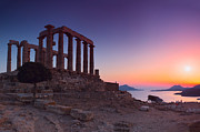 Lagada  Framed Prints - Cape Sounion Framed Print by Emmanuel Panagiotakis