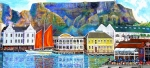 South Africa Painting Prints - Cape Waterfront Print by Michael Durst