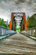 Landscape Greeting Cards Prints - Caperton Trail and Bridge Print by Steven Ainsworth