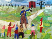 Farm Tapestries - Textiles - Capitaine de Mardi Gras by Charlene White