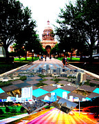 Austin Digital Art Posters - Capital City Collage II Poster by James Granberry