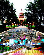 Hall Digital Art Posters - Capital Collage Austin Music Poster by James Granberry