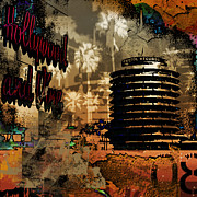 Mayfield Mixed Media - Capital Records Hollywood by Christine Mayfield