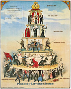 Finance Photo Prints - Capitalist Pyramid, 1911 Print by Granger