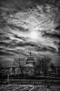 Blackrussianstudio Framed Prints - Capitol Building from the Steps of Supreme Court Building Framed Print by Val Black Russian Tourchin