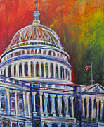 Washington Dc Paintings - Capitol Closing by Mary Gallagher-Stout