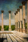 Columns Metal Prints - Capitol Columns Three Metal Print by Susan Isakson