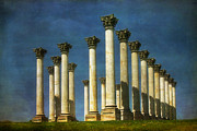 Columns Metal Prints - Capitol Columns Two Metal Print by Susan Isakson