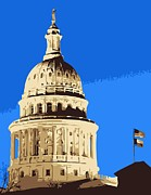 Austin Digital Art Posters - Capitol Dome Color 6 Poster by Scott Kelley