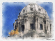 Paulette Wright Digital Art Prints - Capitol Dome St Paul Minnesota Print by Paulette Wright
