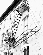 D.w Prints - Capitol Hill Fire Escape Print by Steven Ainsworth