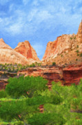 Capitol Mixed Media - Capitol Reef  by Jim  Hatch
