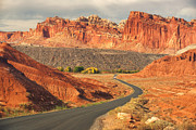 Red-rock Country Prints - Capitol Reef National Park Exit Print by Carolyn Rauh