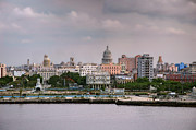 Historic Site Prints - Capitol seen from La Cabana. La Habana. Cuba Print by Juan Carlos Ferro Duque