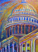 Washington D.c. Mixed Media - Capitol Zeal by Mary Gallagher-Stout