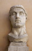 Personality Posters - Capitoline Museums Palazzo dei Conservatori- head of Emperor Con Poster by Bernard Jaubert