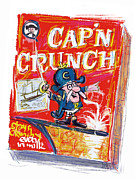 Oats Mixed Media Prints - Capn Crunch Print by Russell Pierce