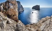 Sea View Framed Prints - Capo Caccia Framed Print by Robert Lacy
