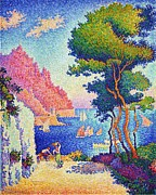 Signac Framed Prints - Capo di Noli Framed Print by Pg Reproductions