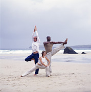 Action Sport Arts Prints - Capoeira And Yoga Print by Tony Mcconnell