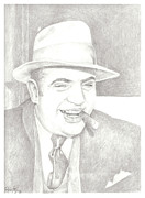 Criminal Drawings Framed Prints - Capone Framed Print by Pride