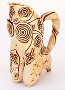 Pitcher Ceramics - Cappuccino Pitcher by Vicky DeLong