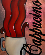 Wine Deco Art Mixed Media Posters - Cappucino Poster by Tom Fedro - Fidostudio