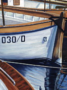 Danielle Perry Painting Framed Prints - Capri Boats Framed Print by Danielle  Perry