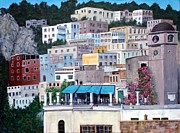 Capri Town Paintings - Capri- Going home by Carole Russell