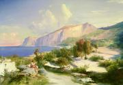 Capri Town Paintings - Capri by Karl Blechen