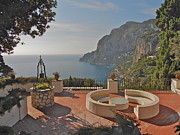 Italian Art Metal Prints - Capri panorama Metal Print by ITALIAN ART- Angelica