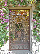 Italian Art Metal Prints - Capri-Timeless Gate Metal Print by Italian Art