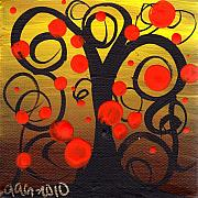 Abstract Tree Prints - Caprice Tree Print by  Abril Andrade Griffith