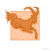 Horoscope Sign Posters - Capricorn Poster by Detlev Van Ravenswaay