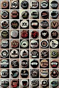 Bottle Cap Collection Posters - Caps Poster by George Pedro