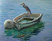Great Blue Heron Paintings - Capt. G. B. Heron by Otto Trott