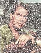 William Shatner Prints - Capt. Kirk Tribble Script Mosaic Print by Paul Van Scott