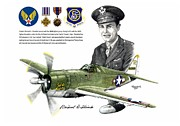 Warbird Mixed Media - Capt. Richard Fleischer and Solid Citizen - Signed Print by Trenton Hill