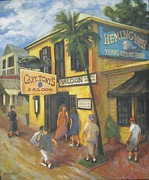 Key West Paintings - Capt Tonys Key West by Dianne Browne Smith