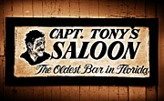 Tony Posters - Capt. Tonys Saloon - Key West Florida Poster by Bill Cannon